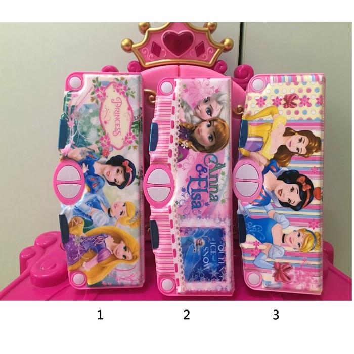 1 2 美人魚 美麗版迪士尼冰雪奇緣愛紗白雪公主樂佩灰姑娘貝兒米奇四個按鍵多 豪華學生兒童