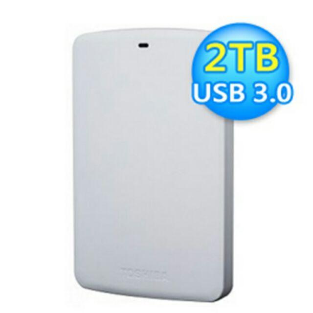 Toshiba 東芝A2 Basic 2TB 2 5 吋行動硬碟外接白