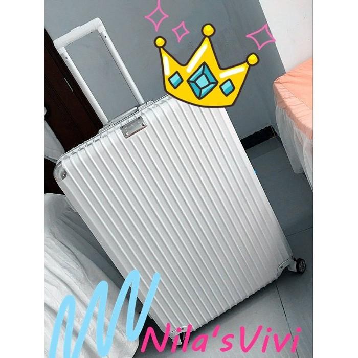 明星款鋁合金包角ABS PC 拜耳霧面感行李箱旅行箱28 吋 玫瑰金