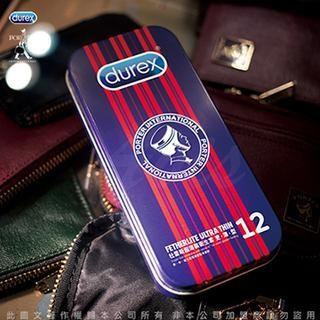 贈潤滑液Durex 杜蕾斯x Porter 更薄型鐵盒限定版12 入紅色直間情趣用品衛生套