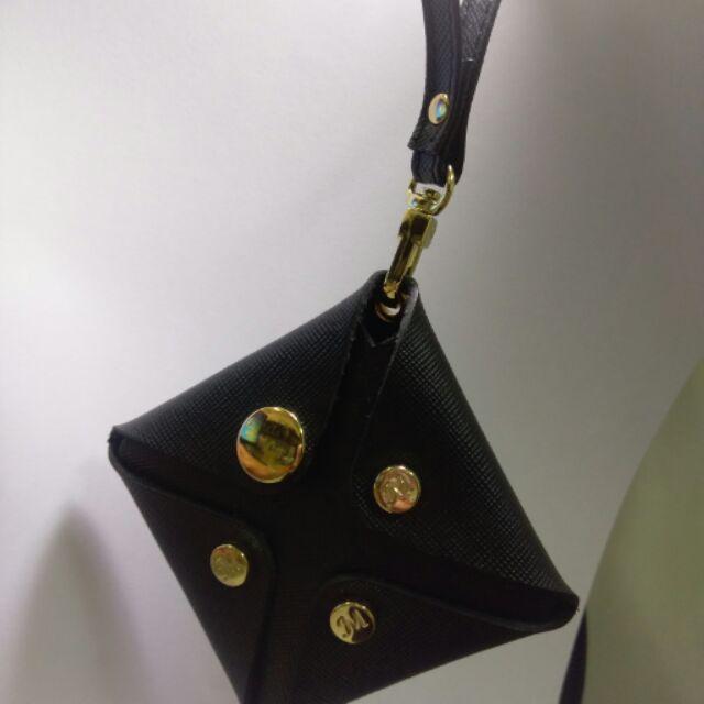 MISSTERY 黑色方型零錢包