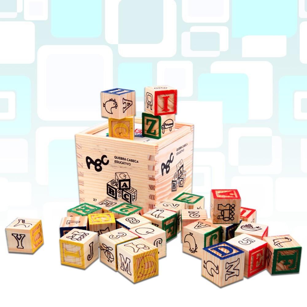 ABC 圖案識別學習盒裝積木27PCS KW031