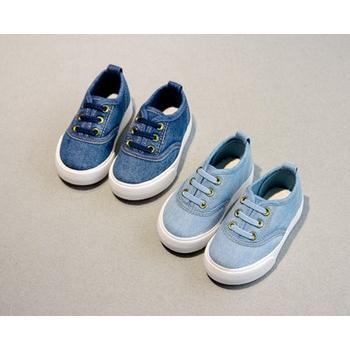 鬆緊套腳牛仔布帆布鞋男童鞋女童鞋寶寶鞋小童中童大童18 37 號