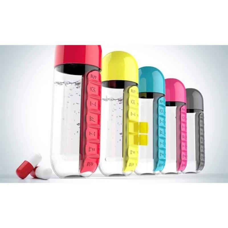 藥盒水瓶杯藥盒杯7 天維他命盒 水杯水瓶