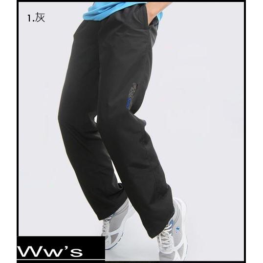 Wws 2016 12 月新品慢跑褲長褲防風風褲保暖內刷毛鬆緊口袋拉鍊