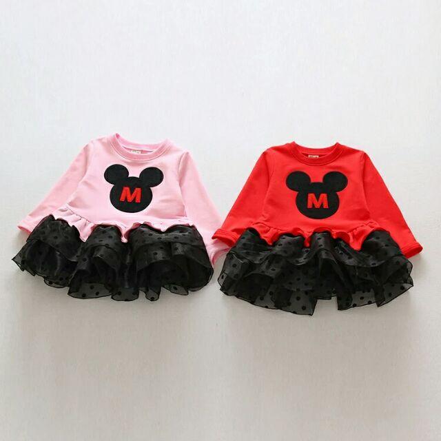 加絨加厚M 字 女童長袖厚連衣裙棉質 拼接蓬蓬裙蕾絲兒童寶寶公主裙蛋糕裙喜宴小禮服小洋裝過