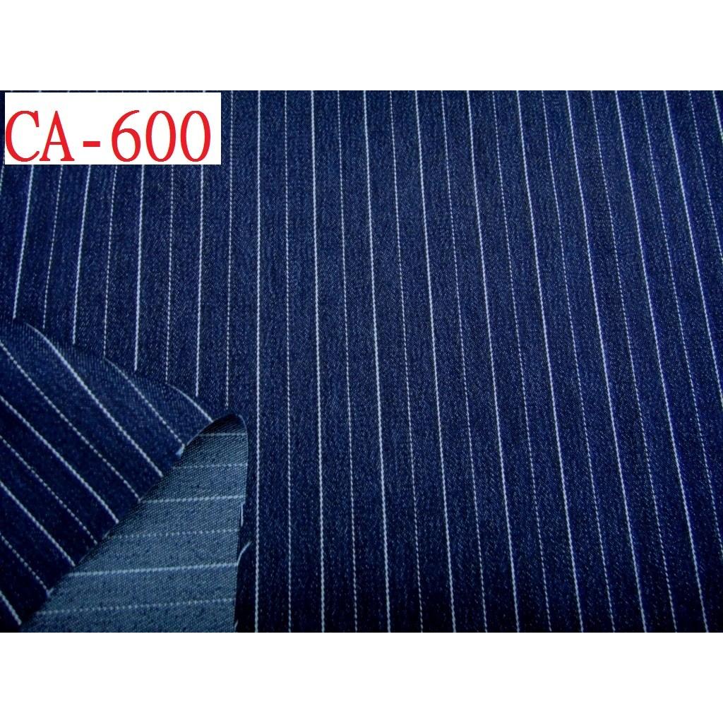 牛仔布拼布材料布料~CANDY 的家~ 布料CA 600 ~~彈性藍色條紋牛仔套裝裙褲料~