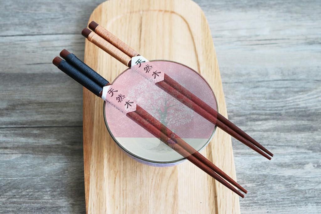 日式木製餐具 餐具原木木筷子 餐具暢銷 原木製筷子2 雙套裝家樂屋169W8 9