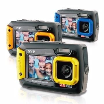 寶寶水中拍照室內溫水游泳池SVP Aqua8800 雙螢幕防水相機藍橘黃可加購記憶卡