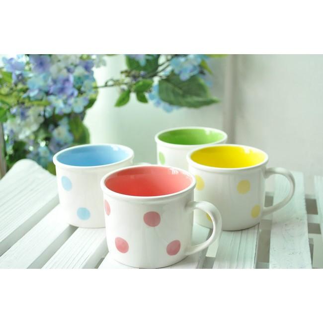 zakka 雜貨好感單品白色清新圓點普普風 陶瓷馬克杯陶瓷杯水杯飲料杯隨手杯杯早餐杯牛奶杯