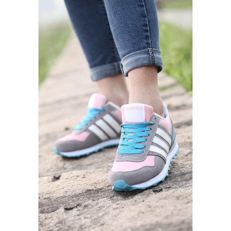 ~甜美氣質~愛迪達Adidas NEO 10K 百搭休閒鞋 鞋女生慢跑鞋網球鞋學生跑步鞋潮