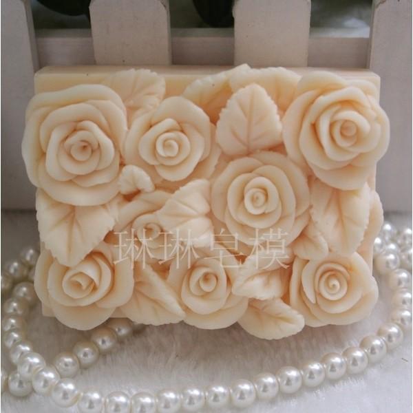 深夜皂材行 皂矽膠單模玫瑰花