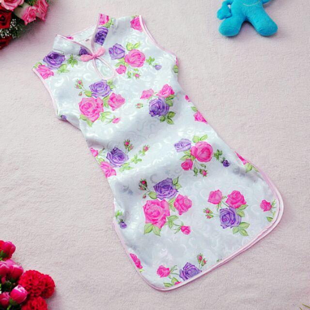 草莓媽媽女童旗袍唐裝中國服