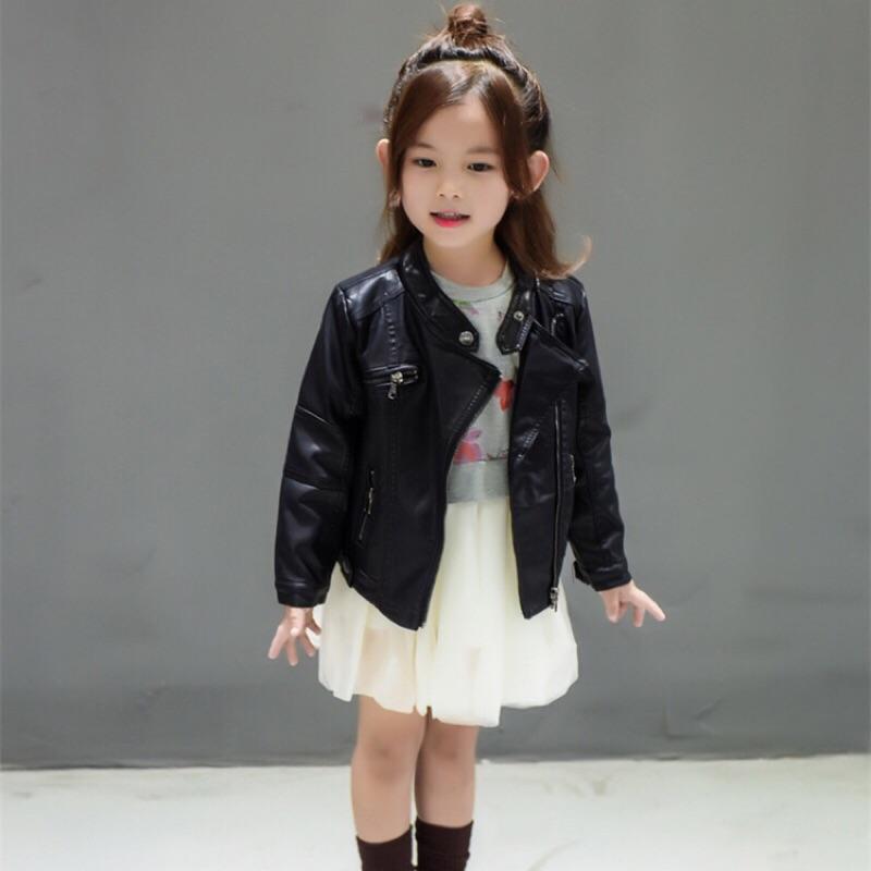 B791 保~ 男女童 加絨機車皮夾克皮外套~魔法 衣櫃