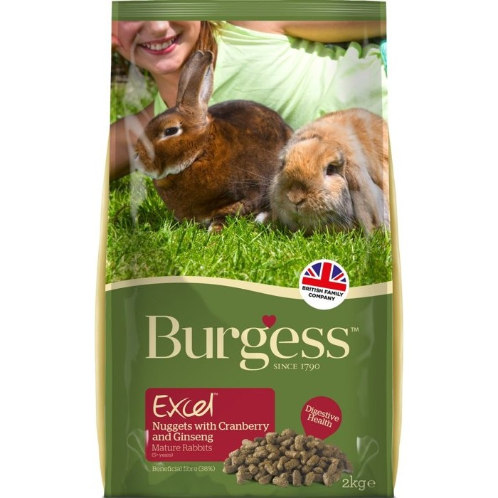 伯爵Burgess 高機能兔飼料老兔蔓越莓人蔘2kg