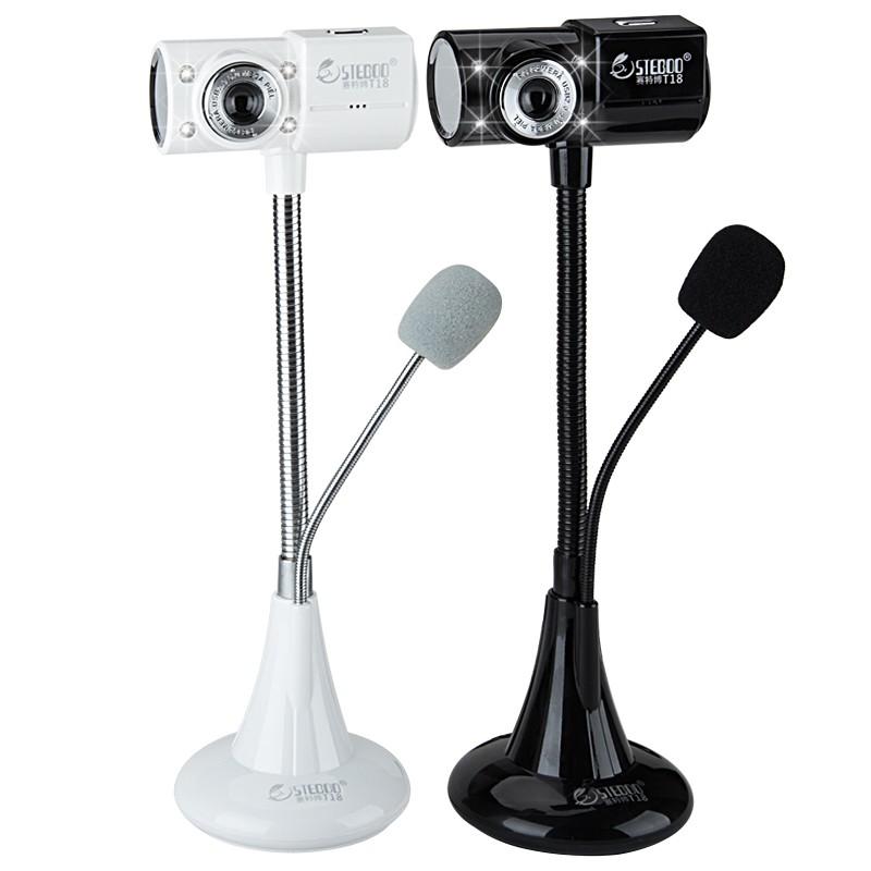 steboo T18 攝像頭高清免驅臺式電腦視頻筆記本帶麥克風話筒夜視