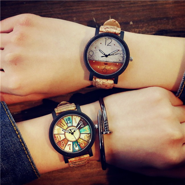 韓國 潮流 休閒復古日系塗鴉中學生皮帶男女表情侶手錶手錶 表 表手錶 表 表手錶 表 表手