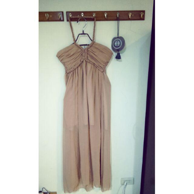 粉色長洋裝伴娘服
