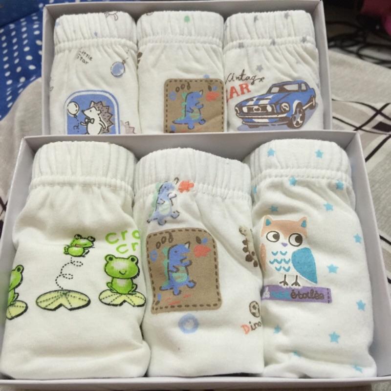 韓國原單男女童有機棉內褲寶寶內褲三件一組花色不同