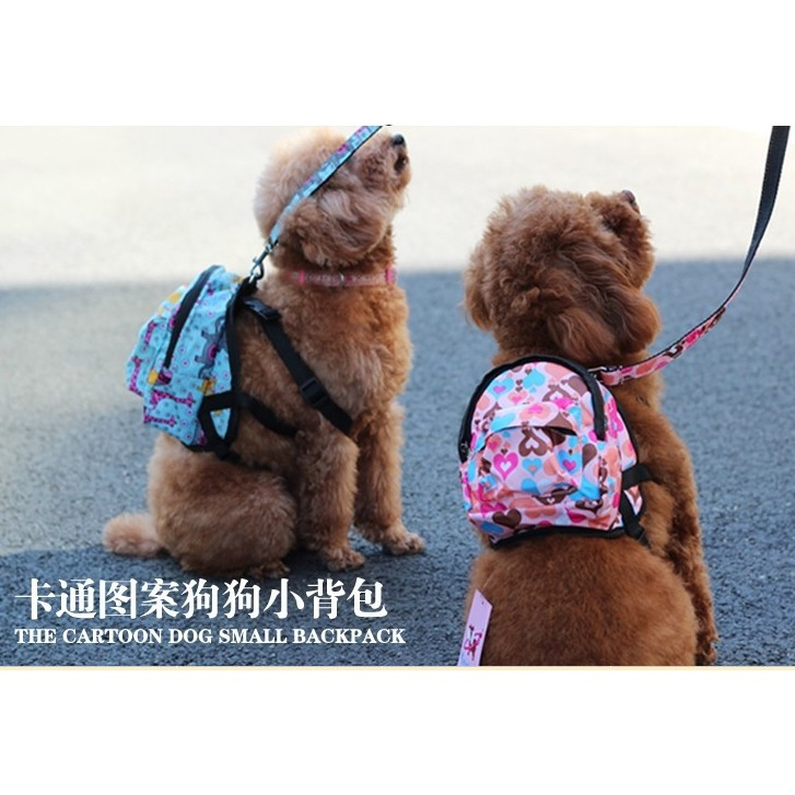 S 號寵物外出書包自背包自背書包~狗狗背包牽繩組~附拉繩
