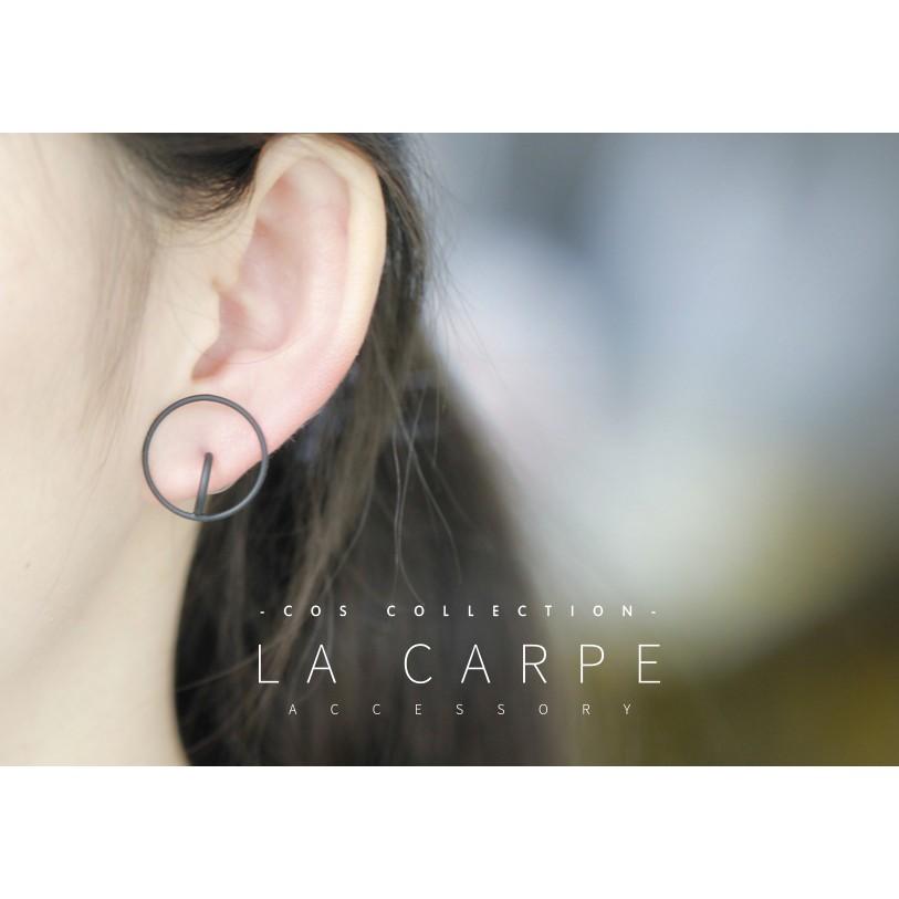 LaCarpe COS 極簡系列 金屬立體繞環耳環雙層圓圈極簡風Other Stories