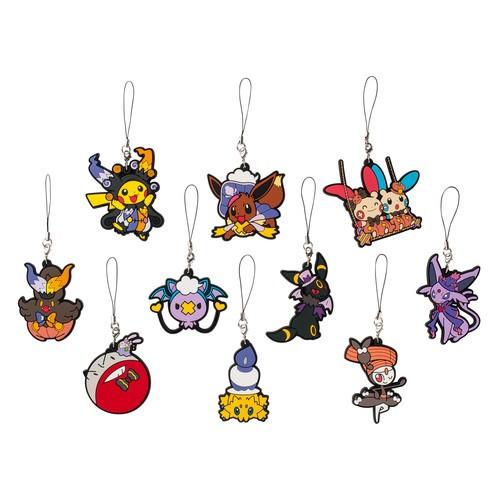 款 神奇寶貝中心萬聖節吊飾掛飾盒玩單一小盒 發送Pokemon 皮卡丘精靈寶可夢