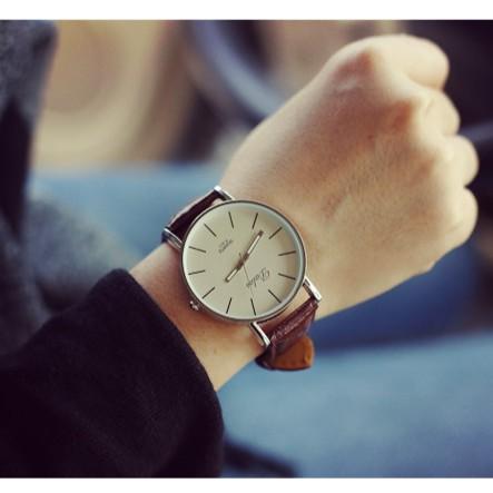 英倫 極簡約 皮帶手錶潮流 復古學院風格學生男女情侶手錶