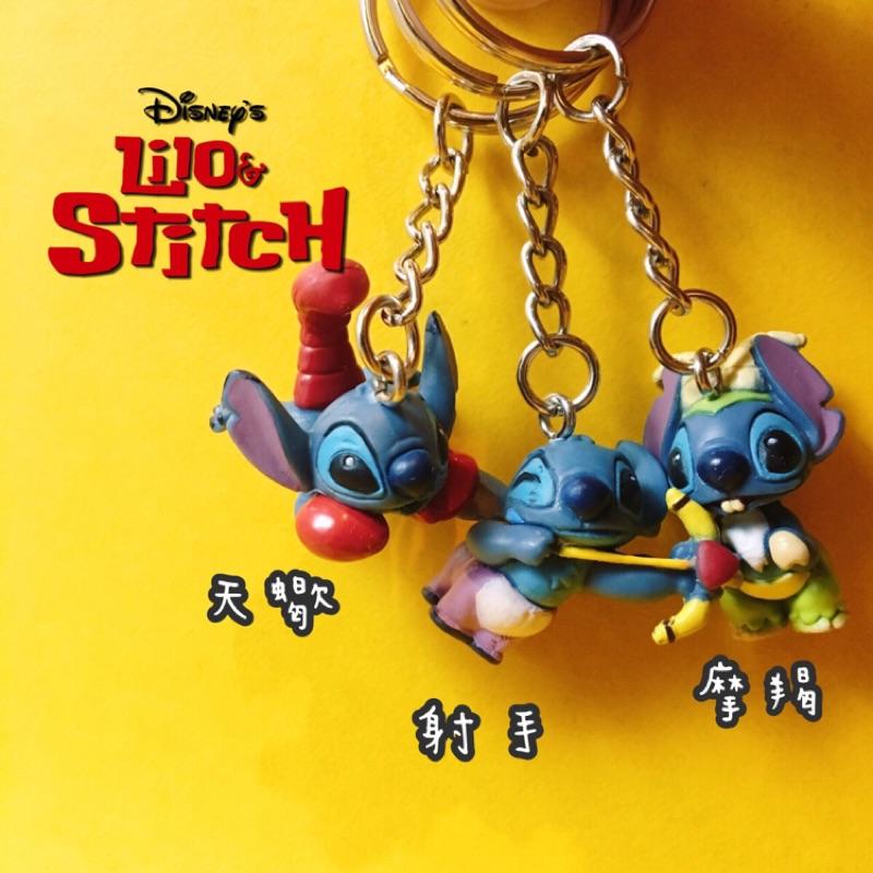 限定迪士尼史迪奇星座月份生日十二天蠍射手摩羯獅子處女天秤吊飾鑰匙圈公仔玩具