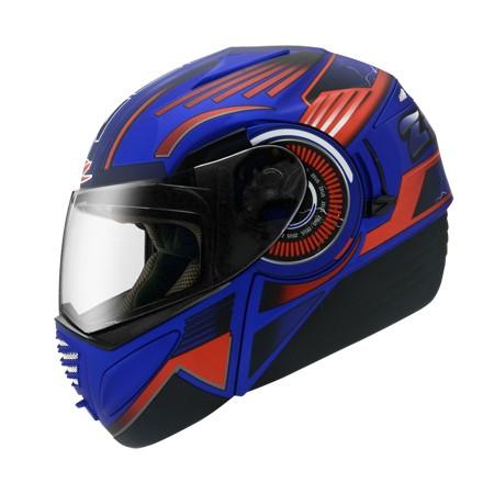ZEUS ZS 3010 消光海藍AE2 黑~可掀式安全帽~三段式可調內藏鏡片開關