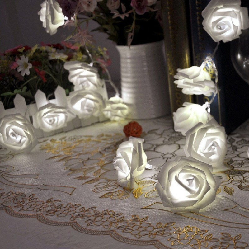 FINEJO 2 2M LED 花卉圖案燈串聖誕派對裝飾燈