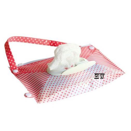 HW Edison 濕紙巾袋可掛式濕紙巾袋面紙2Way 收納 袋桃紅