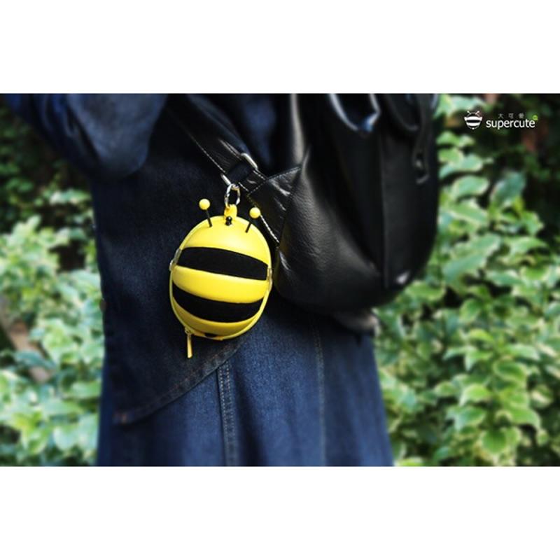 正品Supercute 可愛小蜜蜂 硬殼零錢包鑰匙包收納包五色⭕️ 款