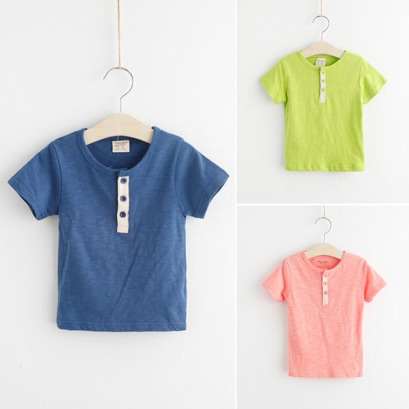 2016 6 月 男童男寶寶棉質上衣短袖T 恤衫潮 加
