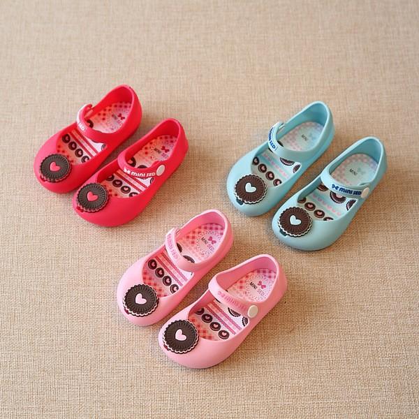 ❤Happy Mall ❤2016 春夏新品 女童女寶寶餅乾童鞋果凍鞋防滑耐磨3 色530