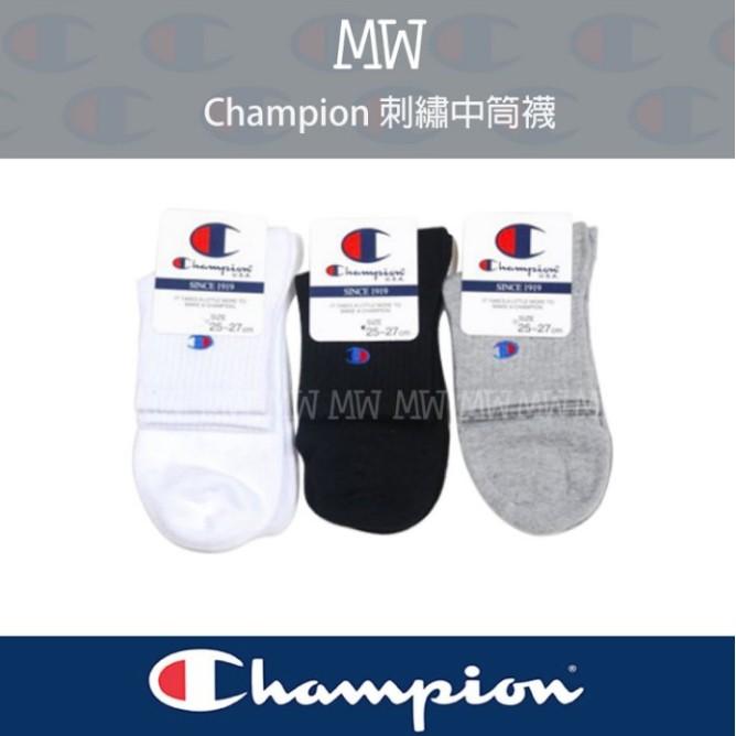 MW Ch ion Logo 刺繡中筒襪日系冠軍復古百搭短襪低筒襪腳踝男女襪中筒