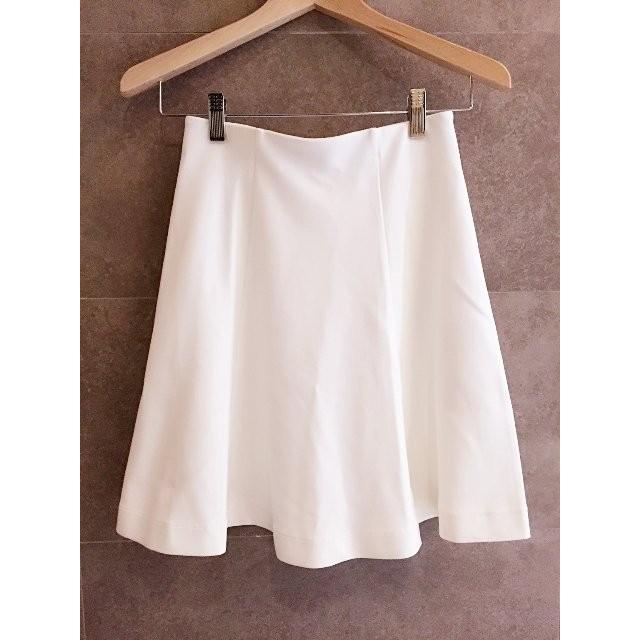 正品Uniqlo 彈性腰圍白色垂墜感波浪裙擺及膝裙A 字裙