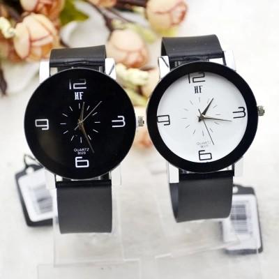 復古簡約PVC 帶手錶HF 潮流石英男錶女錶贈錶盒