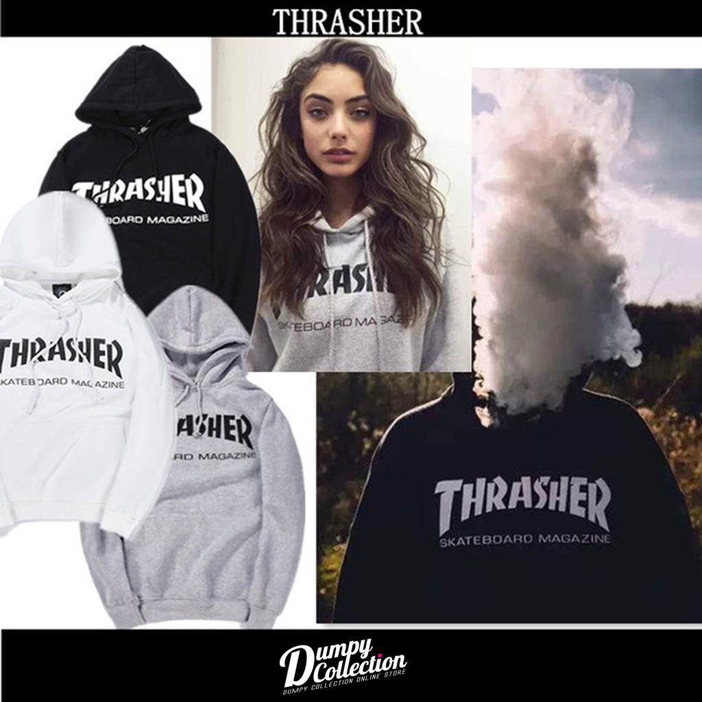~DUMPY ~ 火焰t Thrasher Flame Logo TEE 純棉帽T 大學T