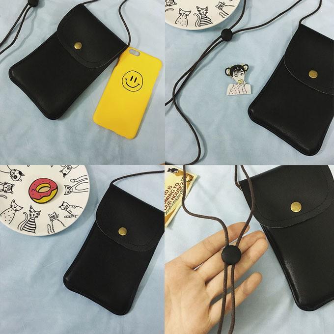 ~滿299  ~ 發貨☀休閒☀逛街約會☀韓國chic 實拍韓國零錢包挂脖手機包複古小包包單