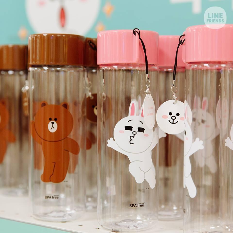正韓 LINE FRIENDS X EMART 限定版熊大兔兔BPA FREE 550ml