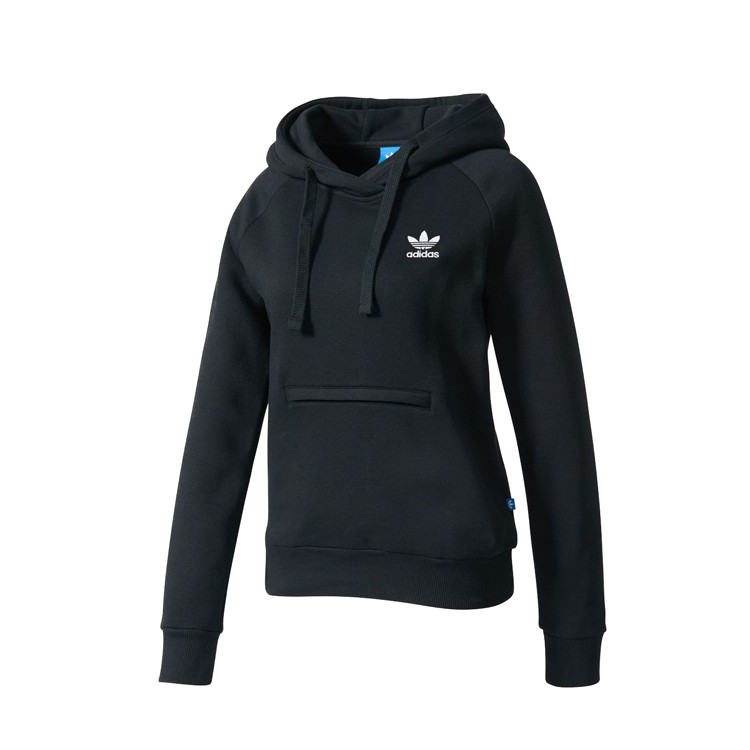 77 折adidas Originals Black Logo Hoodie BK5801
