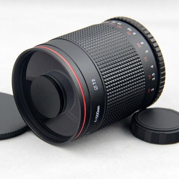 怪機絲500mm F8 T mount 大光圈反射鏡頭Macro 1 2 7X 贈T2 望
