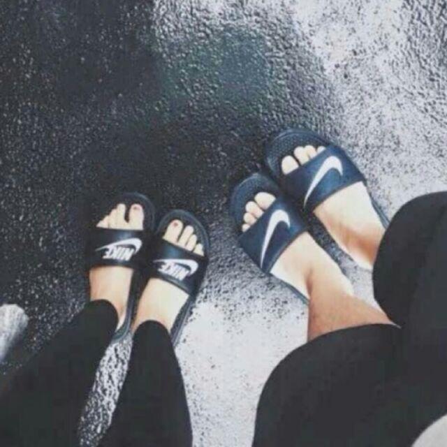 耐吉nike 拖鞋與權志龍同款黑底