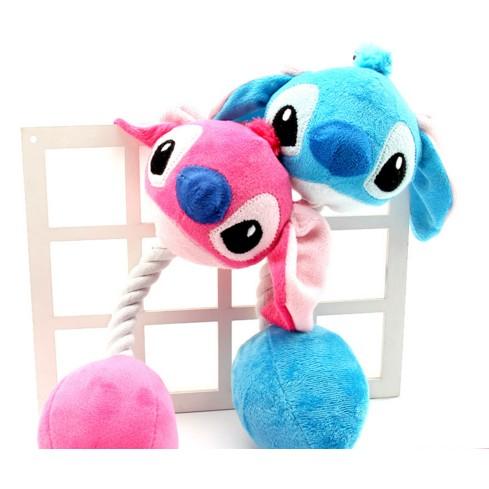 絨毛BIBI 繩結玩具史迪奇三眼怪貓狗玩具棉繩絨布布料磨牙寵物抗憂鬱