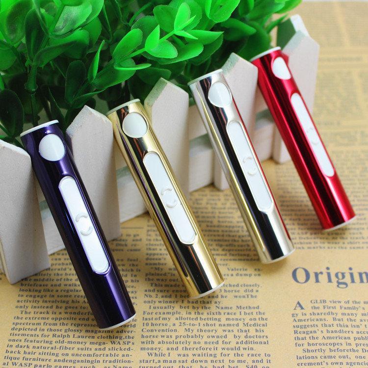 口紅筆 電子點煙器女士打火機金屬USB 充電打火機