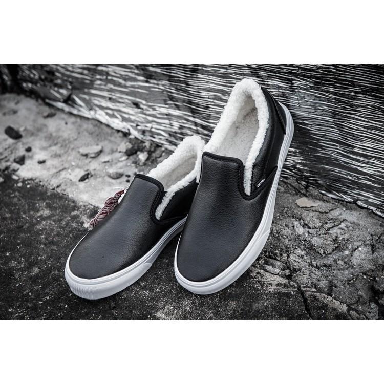 正品VANS 繙毛皮萬斯複古男鞋低 情侶鞋潮鞋滑板鞋子休閒鞋女鞋黑白 百年不敗