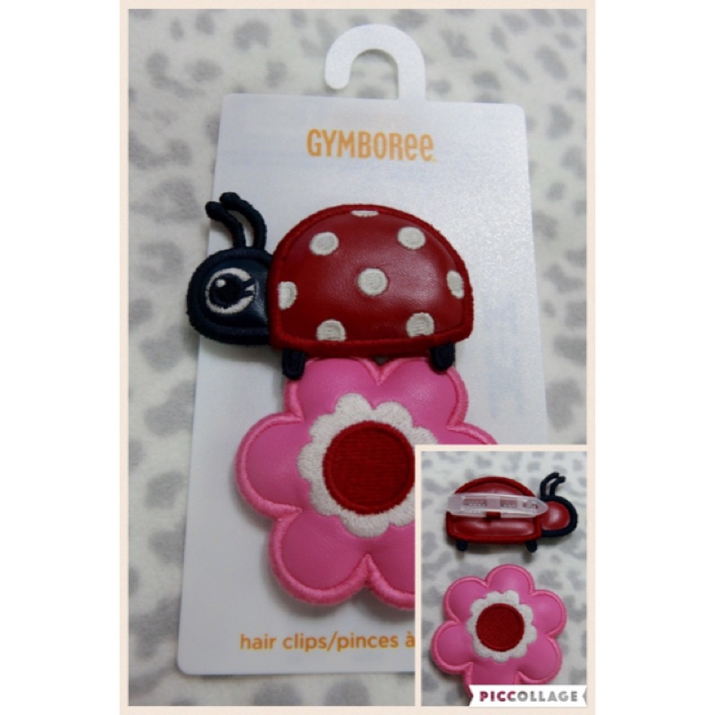 美國GYMBOREE 可愛瓢蟲花朵髮飾髮夾 小baby 小童 2 入組