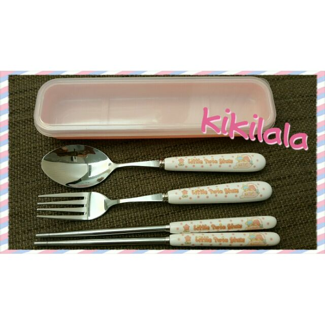 ♡kikilala 陶瓷不鏽鋼餐具4 件組♡