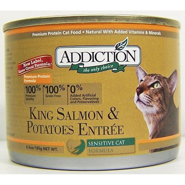 ~80 號寵鋪~紐西蘭ADDICTION 無穀低敏貓罐鮭魚馬鈴薯185g