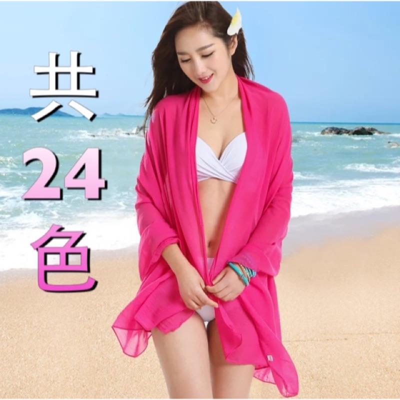 披紗沙灘巾比基尼雪紡防曬防紫外線罩衫泳衣套裝
